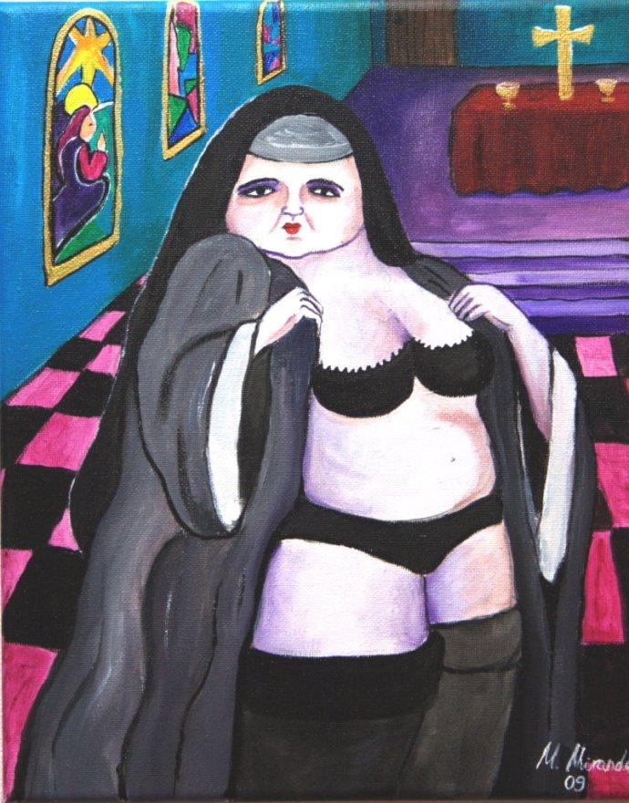 Gemälde, 24cm x 30cm, Margarita Miranda